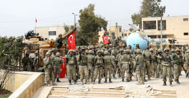 Photo of 417 Syrian detainees by the Turkish army since the start of the military operation