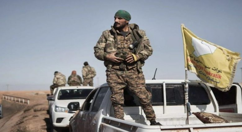 """Photo of For the second consecutive day, a new """"SDF"""" military convoy was targeted."""