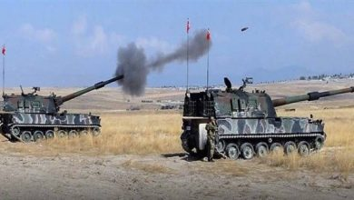 Photo of Turkish attacks on Tal Abyad countryside, Syria