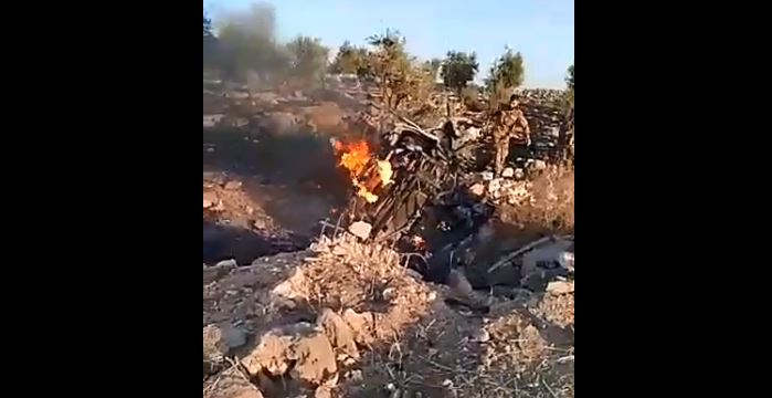 The killing of a Hamzat leader by an aimed missile in Afrin north of Aleppo.