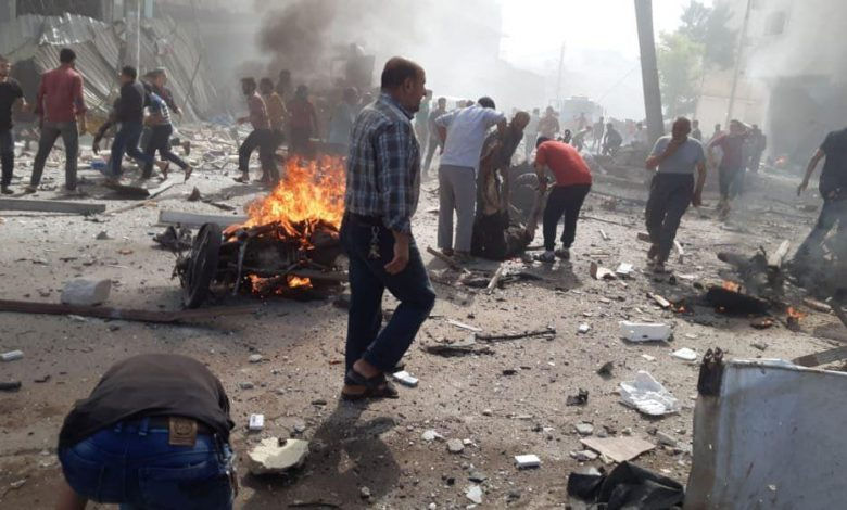 Many civilian victims were killed due to an explosion of a bombed car in Al-Bab city in the countryside of Aleppo.