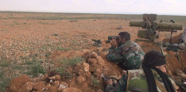 The killing of 9 ISIS members in clashes with the Syrian army in the Badia area.
