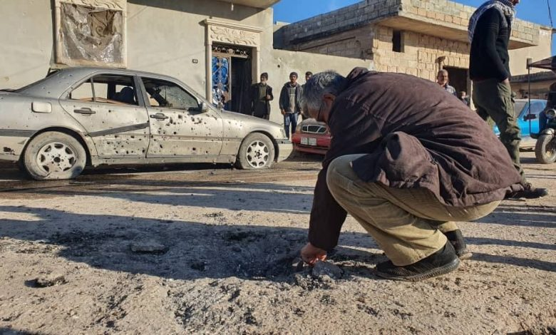 """Civilian casualties due to Turkish shelling on """"Tal Rifaat"""", Aleppo northern countryside."""