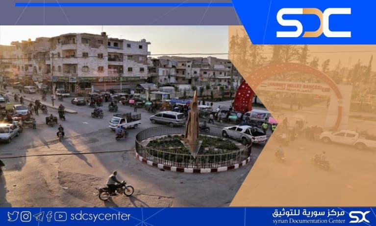 """Many wounded in an armed clash between 2 families in the city of """"Al-Bab"""" in the countryside of Aleppo."""