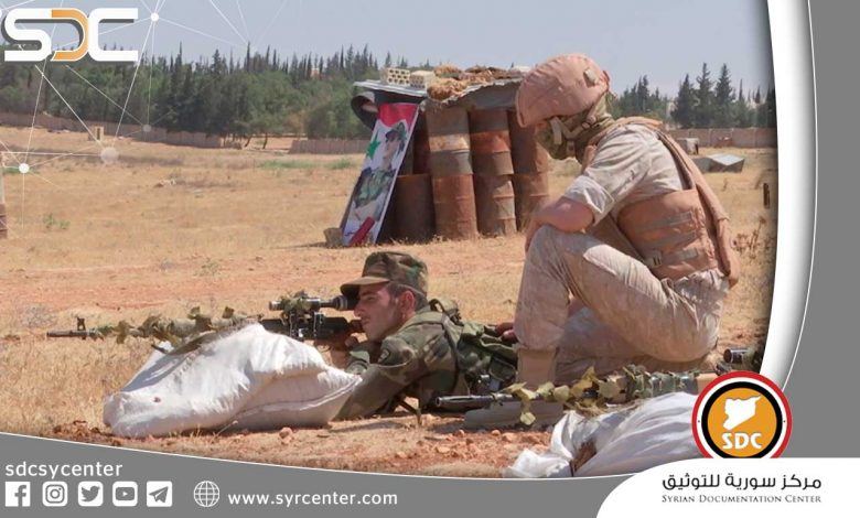 New Russian training for the Syrian army on sniping and camouflage