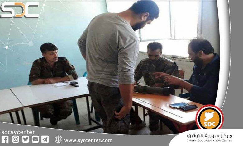 """Dozens of wanted men join the settlement agreement in """"Sahem al-Golan"""" in Daraa countryside."""
