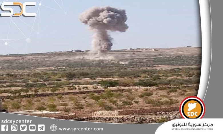 The Syrian-Russian Air Force attacks the positions of the militants southern Idlib